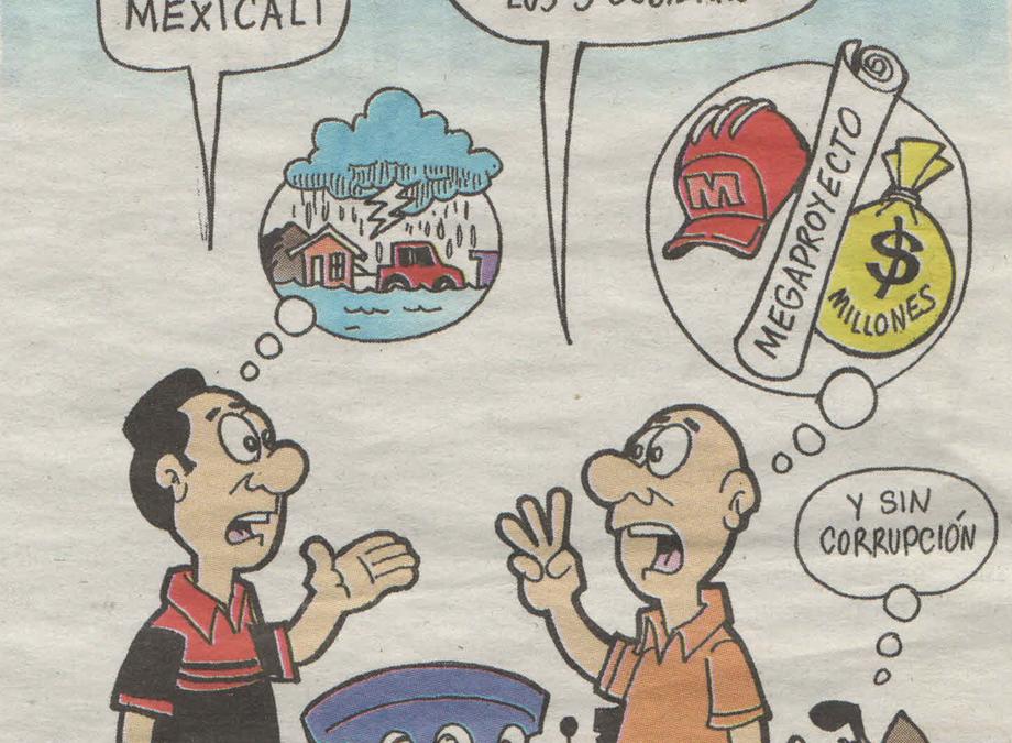 """Caricatura """"Pluviales"""""""